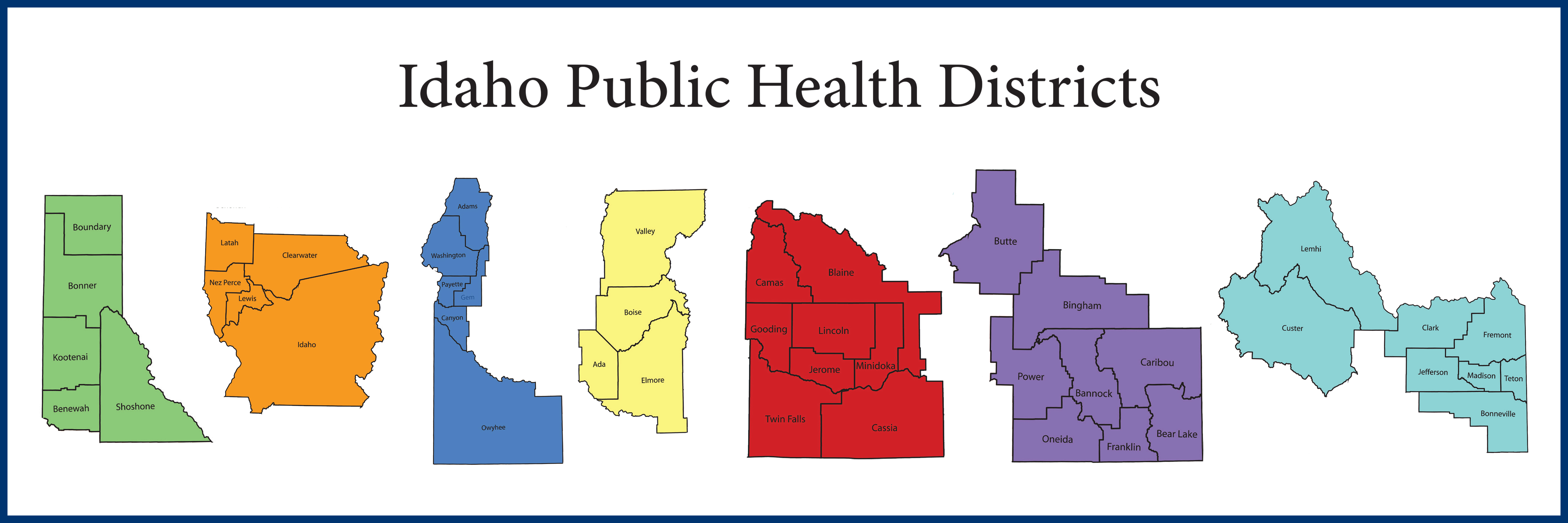 Picture of health district boundaries.